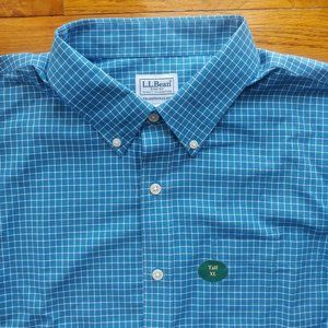 LL Bean Blue Check Shirt New NWT XL Tall